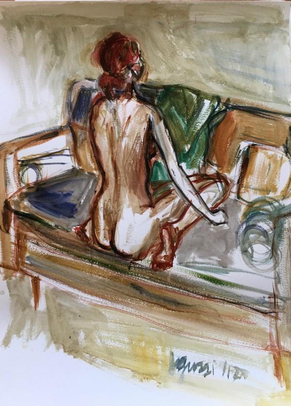 Back of Woman on Sofa