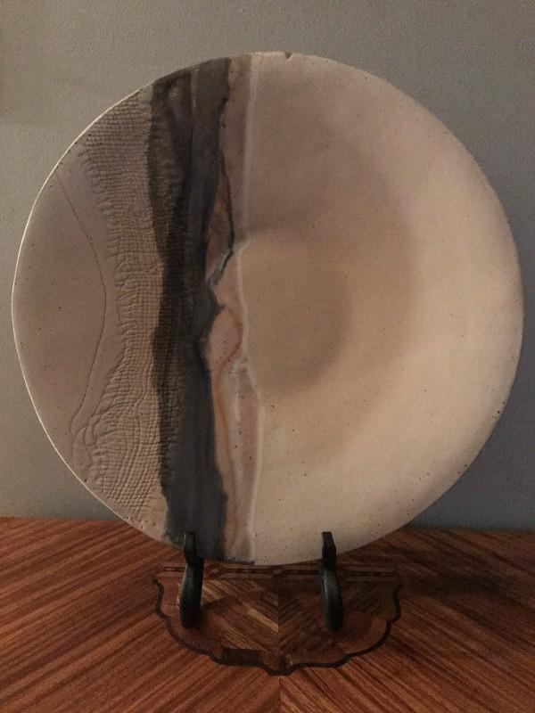 Large Striped Round Platter