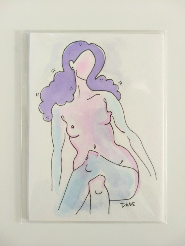 Purple and Pink Nude