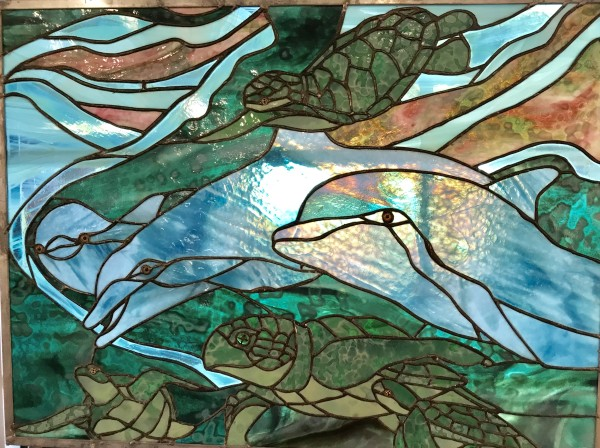 Dolphins & Turtles by Pat Conway