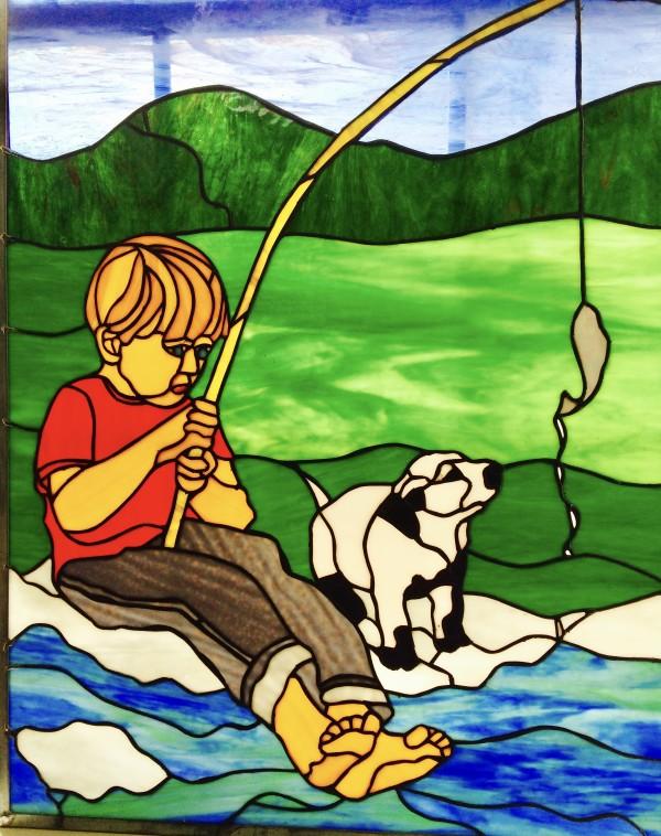 Boy Fishing by Pat Conway
