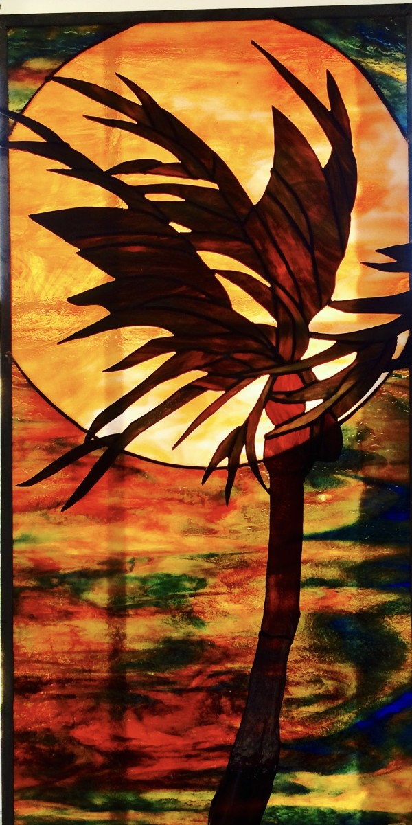 Sunset Palm Tree by Pat Conway
