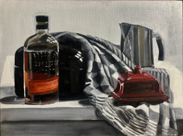 Bourbon for breakfast by Judith Ansems Art