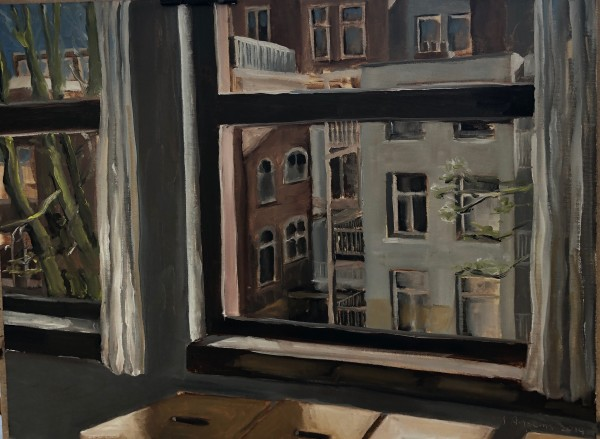 2 Windows in Amsterdam by Judith Ansems Art