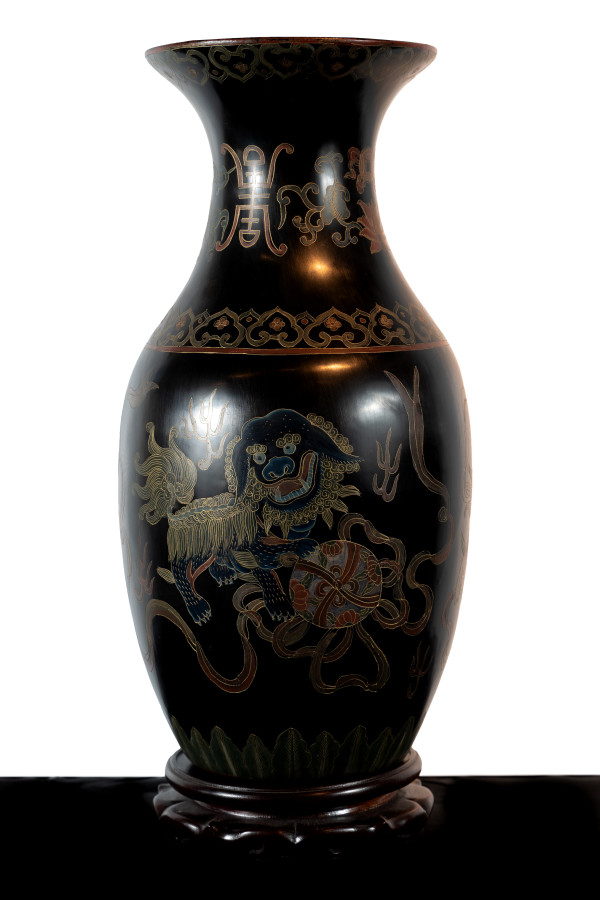 Antique Chinese Vase - Longevity, Good Luck, Happiness by Unknown