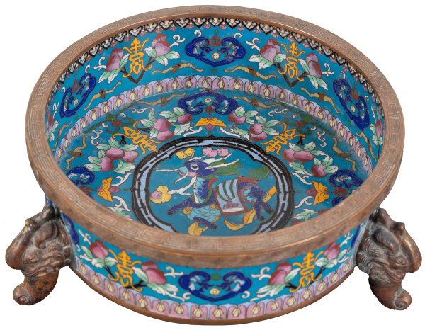 Antique Chinese Cloisonné Bowl by Unknown
