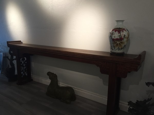 Antique Chinese Long Wooden Console Table by Unknown