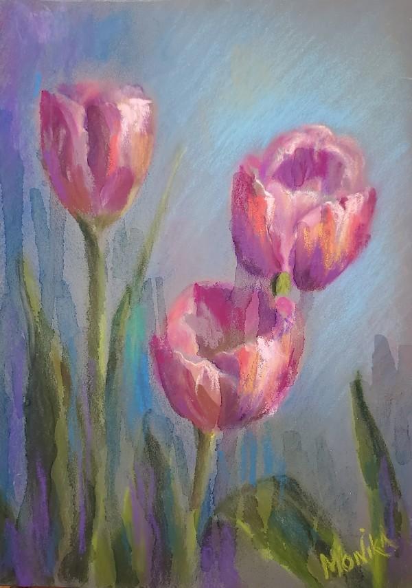 Tulips Trio by Monika Gupta