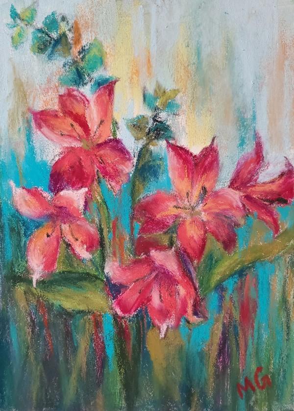 Red Blooms by Monika Gupta