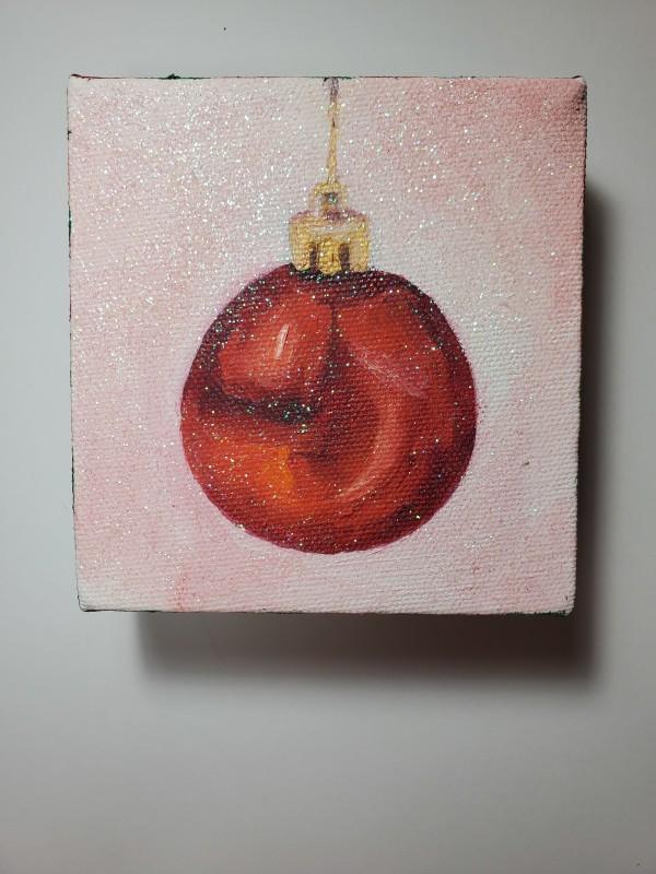 Xmas Ornament with Glitter - Mini by Monika Gupta