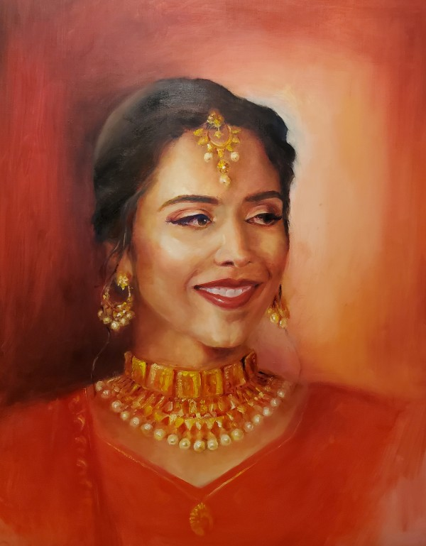Portrait - Vibha by Monika Gupta
