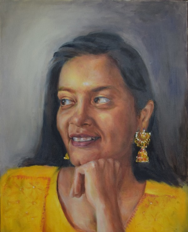 Girl with a Golden Earring by Monika Gupta
