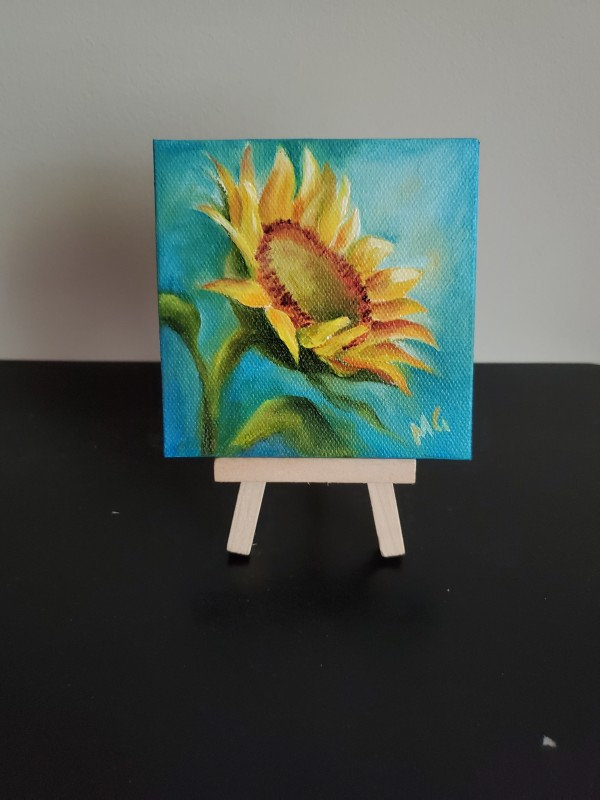 Mini- Blooming Sunflower by Monika Gupta