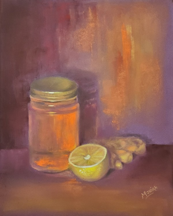 Cough Syrup - Soft Pastels, Framed by Monika Gupta