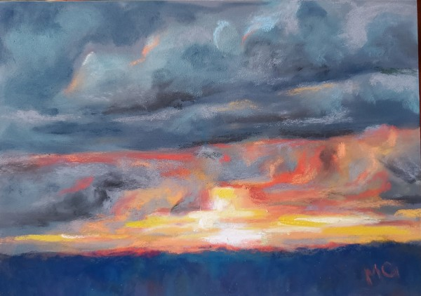 Sunset V - Stormy Evening by Monika Gupta