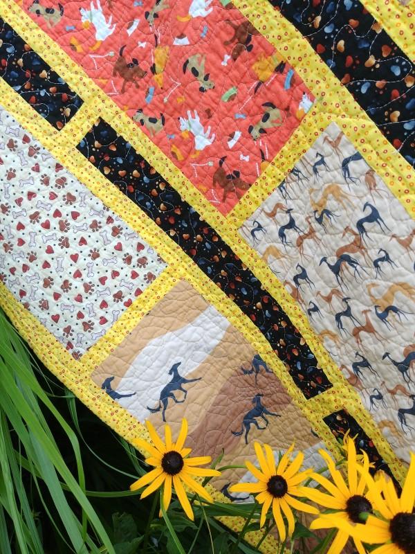 Mona Greyhound Quilt by Laura Brady
