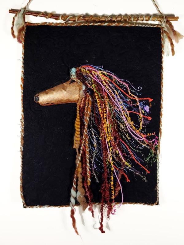 Rasta Greyhound (Profile) by Laura Brady