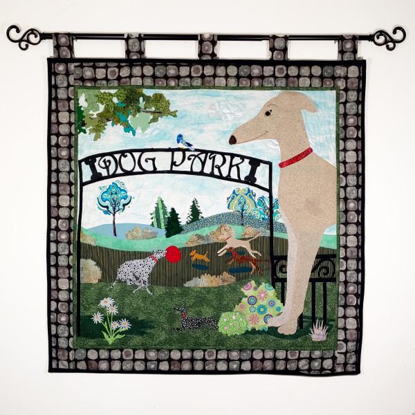 Greyhound Dog Park by Laura Brady