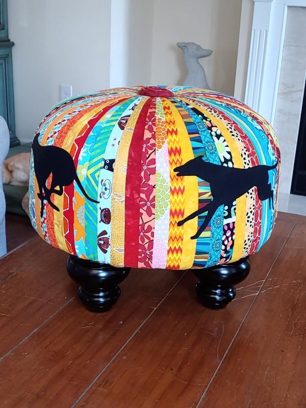 Greyhound Tuffet by Laura Brady