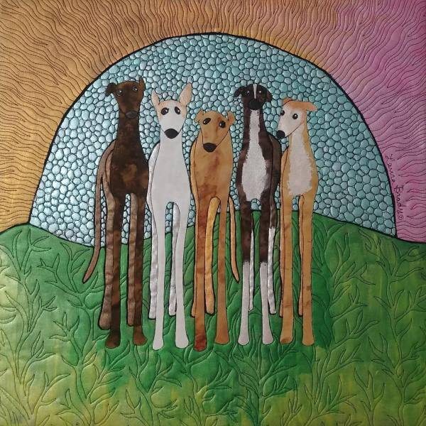 My five hounds 2 by Laura Brady