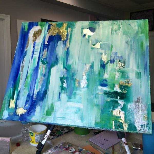 Green Abstract by Lyra Brayshaw
