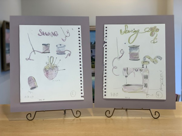 Sewing Stuff (Left & Right) by Jennifer Hooley