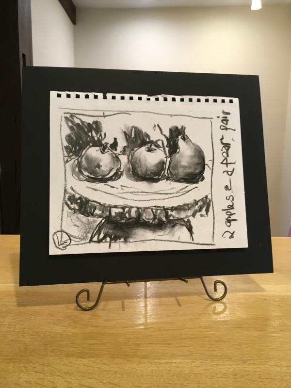 Pear & Apple Pair (Left) by Jennifer Hooley