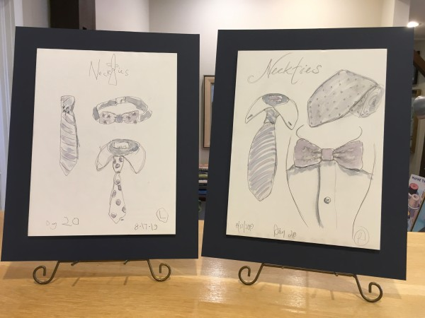 Neckties (Left & Right) by Jennifer Hooley