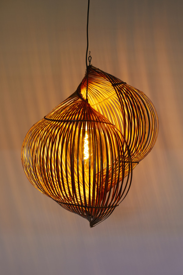 Double walled shell sculptural lamp by Charissa