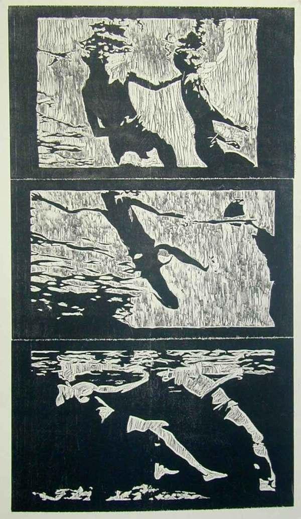 Swimmers Tryptich by Karim Shuquem