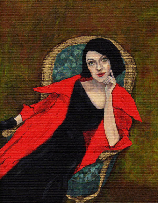 Red Coat (framed in gilded gold frame) by Rani Young