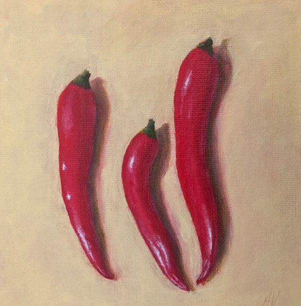 Three Chillis by Anna Vyce