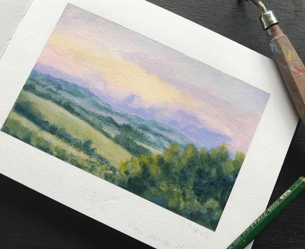 Landscape Colour Study 2 by Anna Vyce