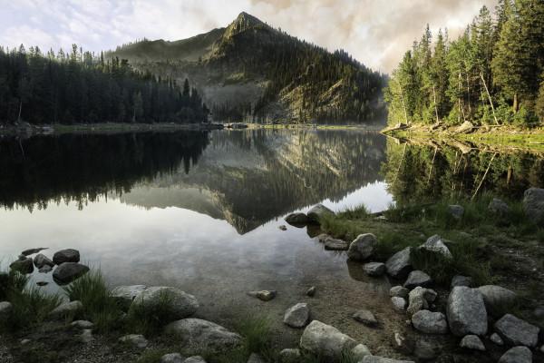 Louie Lake Sunrise by Connie McClaran