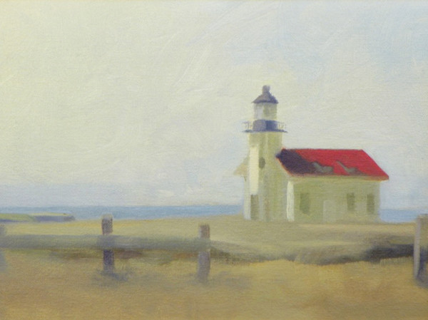 Contemplation for Mood No.1 (Cabrillo Lighthouse) by Curtis Green
