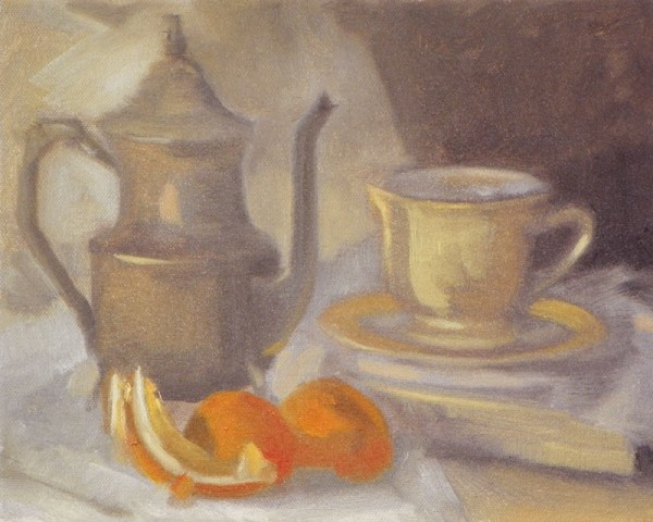 Still Life with Orange Peels by Curtis Green