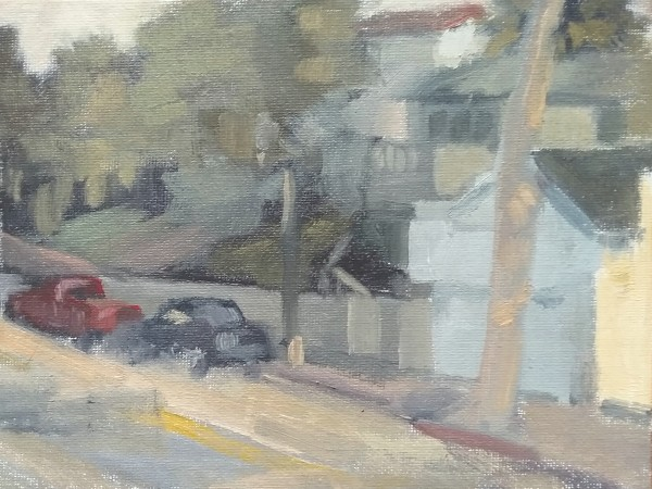 Late in the Day on Mermaid Street, Laguna Beach by Curtis Green