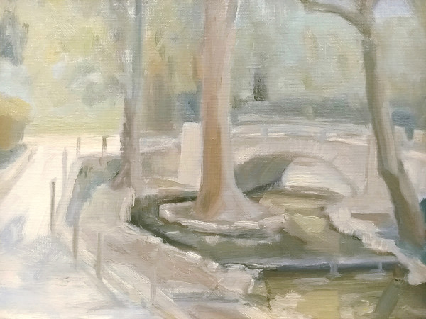 The Foot Bridge at Averill Park by Curtis Green