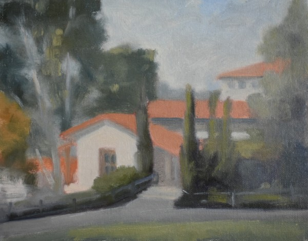 A View of Malaga Cove Library by Curtis Green