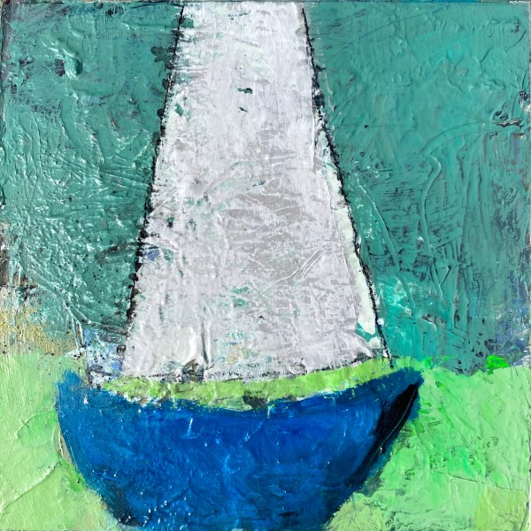 Boat Parade - Blue by Michelle Marra