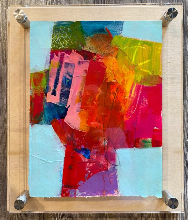 Crossroads 9 (in custom lucite) by Michelle Marra