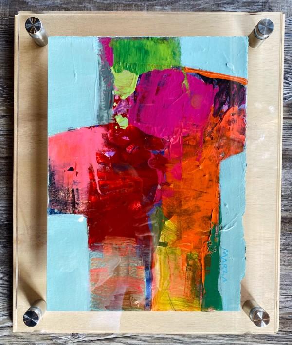 Crossroads 7 (in custom lucite) by Michelle Marra