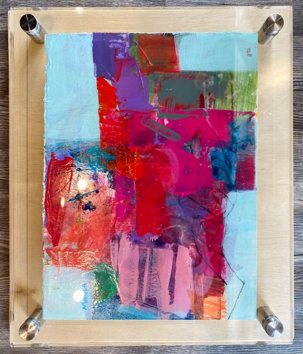 Crossroads 8 (in custom lucite) by Michelle Marra
