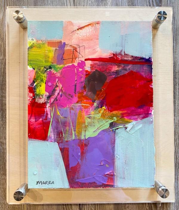Crossroads 10 (in custom lucite) by Michelle Marra