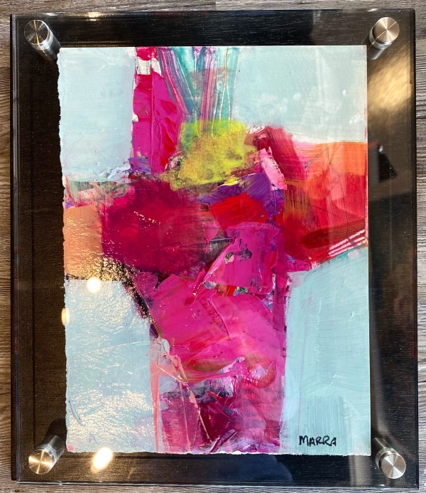 Crossroads 5 (in custom lucite) by Michelle Marra