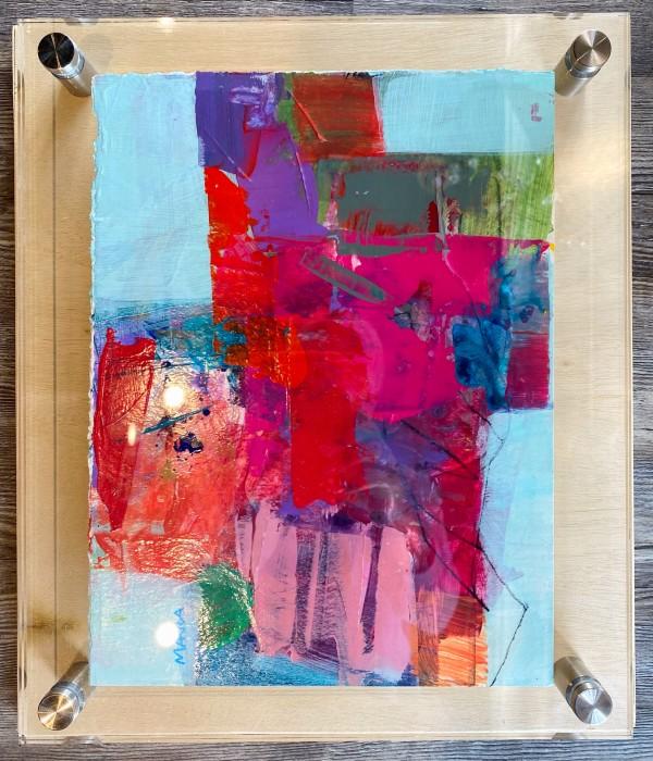 Crossroads 6 (in custom lucite) by Michelle Marra