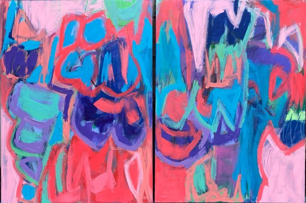 Bonfire Beats (diptych) by Michelle Marra