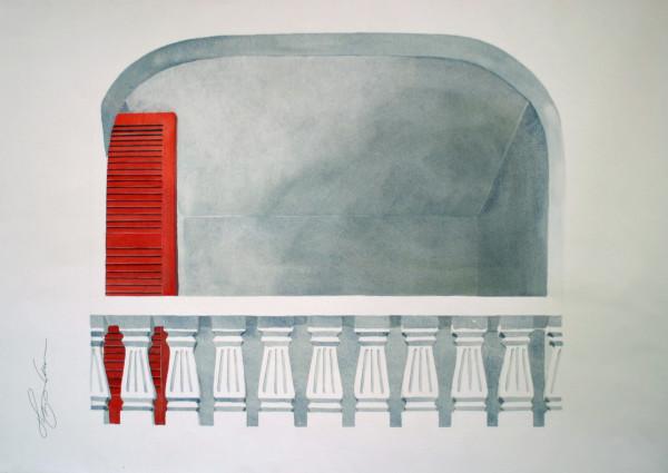Balcony, Red Door