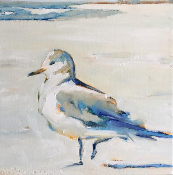 Blue Beach Bird by kathleen broaderick