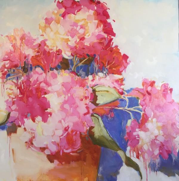 Hydrangeas by kathleen broaderick